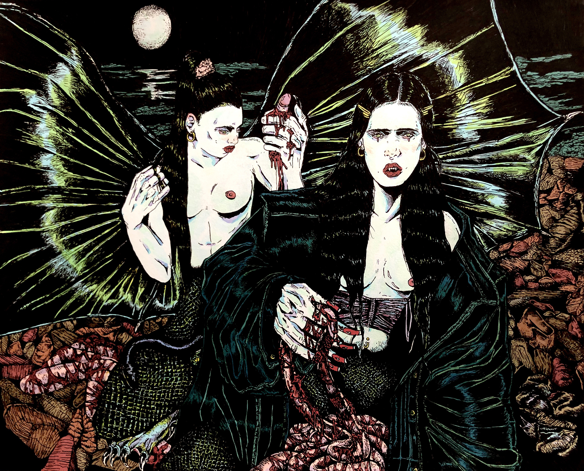 Sisters of Thelxiepeia and Ligeia